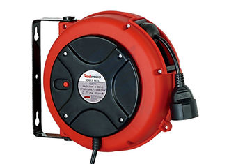 China Lightweight 3 Core Retractable Electric Cord Reel , 0.9 Meter Lead In Cable supplier