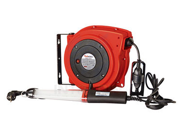 China 15 Meters Lengh Electric Cable Reel with LED And Fluorescent Work Lamp supplier
