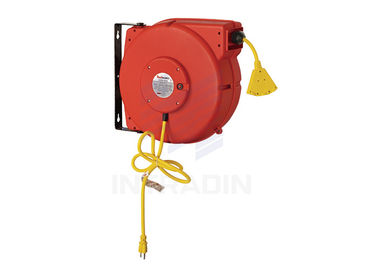 Heavy Duty Industrial electrical Cable Reel With 60 Inch Lead - In Cord , Electric Cord Reel