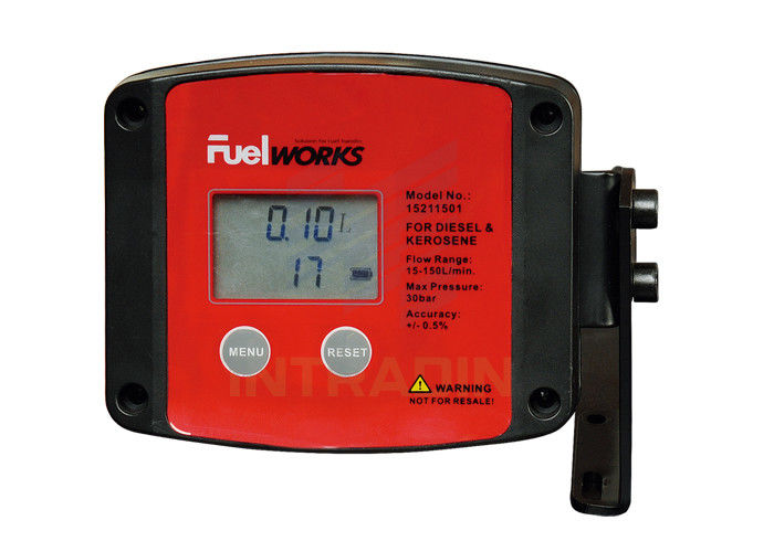 Inline Gas Flow Meter : Lpm flow rate oval gear inline fuel meter
