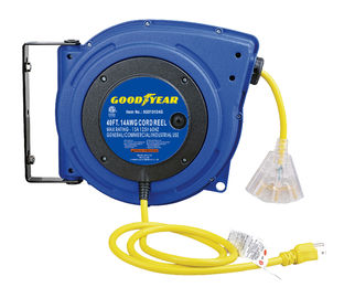 China LED Lighted Connector Goodyear Retractable Air Hose Reel With Double Adjustment Function distributor