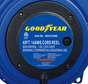 China 40ft Triple Tap Heavy Duty Extension Cord Reel Goodyear Hose Reel With LED Lighted Connector distributor