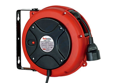 China Lightweight 3 Core Retractable Electric Cord Reel , 0.9 Meter Lead In Cable distributor