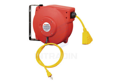 China 125V 16 ,14 Or 12 Gauge Electric Cable Reel Retractable For Indoor / Outdoor distributor