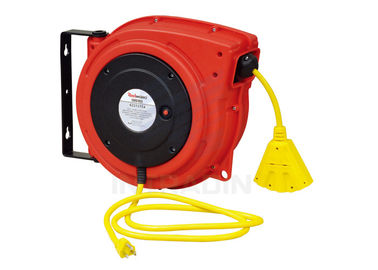 China Plastic Housing Electric Spring Driven Cable Reel With Ratch Double Adjustment distributor