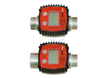 China 3 - 26 GPM Flow Rate Fluid Turbine Digital Fuel Flow Meter For Diesel Kerosene distributor